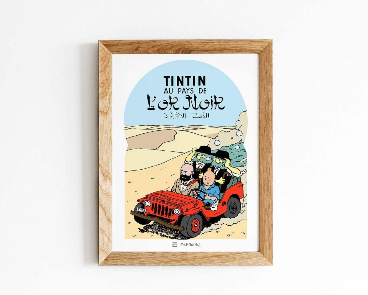 Dibujo de Tintin en el Pais del oro negro