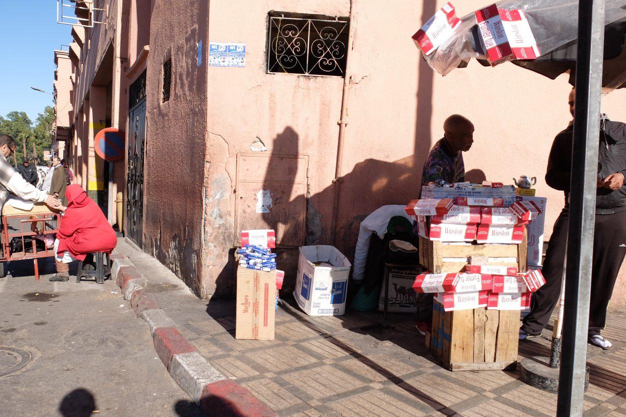Estanco en Marrakech, Marruecos