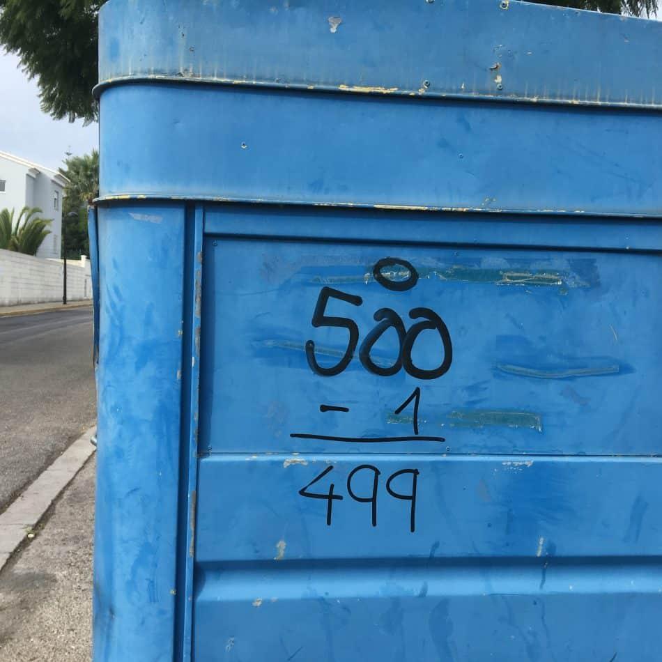Fotografia de un grafitti en Gandia, La Safor, Valencia. España