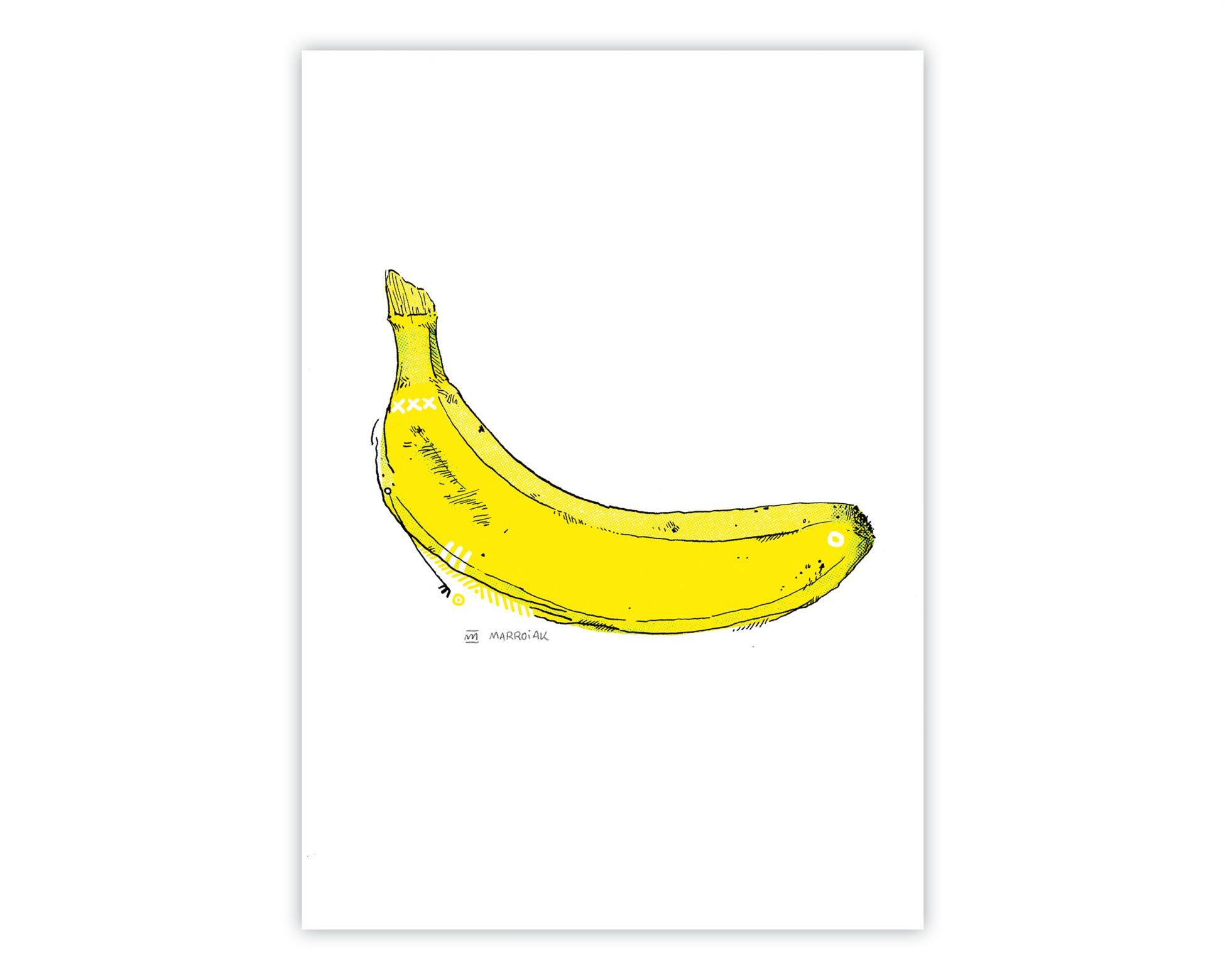 Venta online de una ilustración de una banana