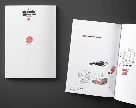 Portada del comic experimental de dibujo e ilustración Bizarria esspumosa 01