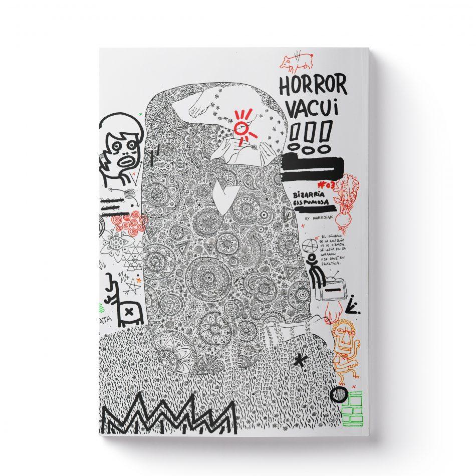 Portada del comic experimental de ilustración Bizarria Esspumosa. Número 3 Horror Vacui