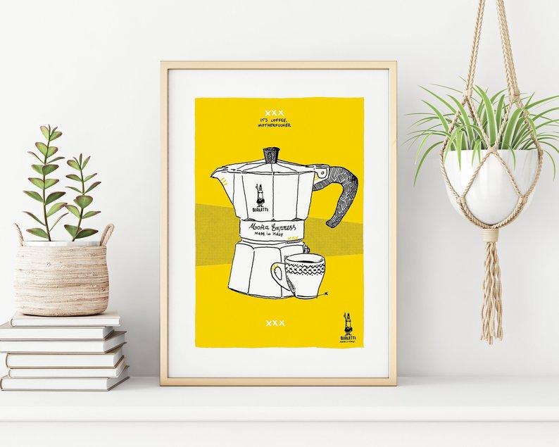 Dibujo cafetera Bialetti