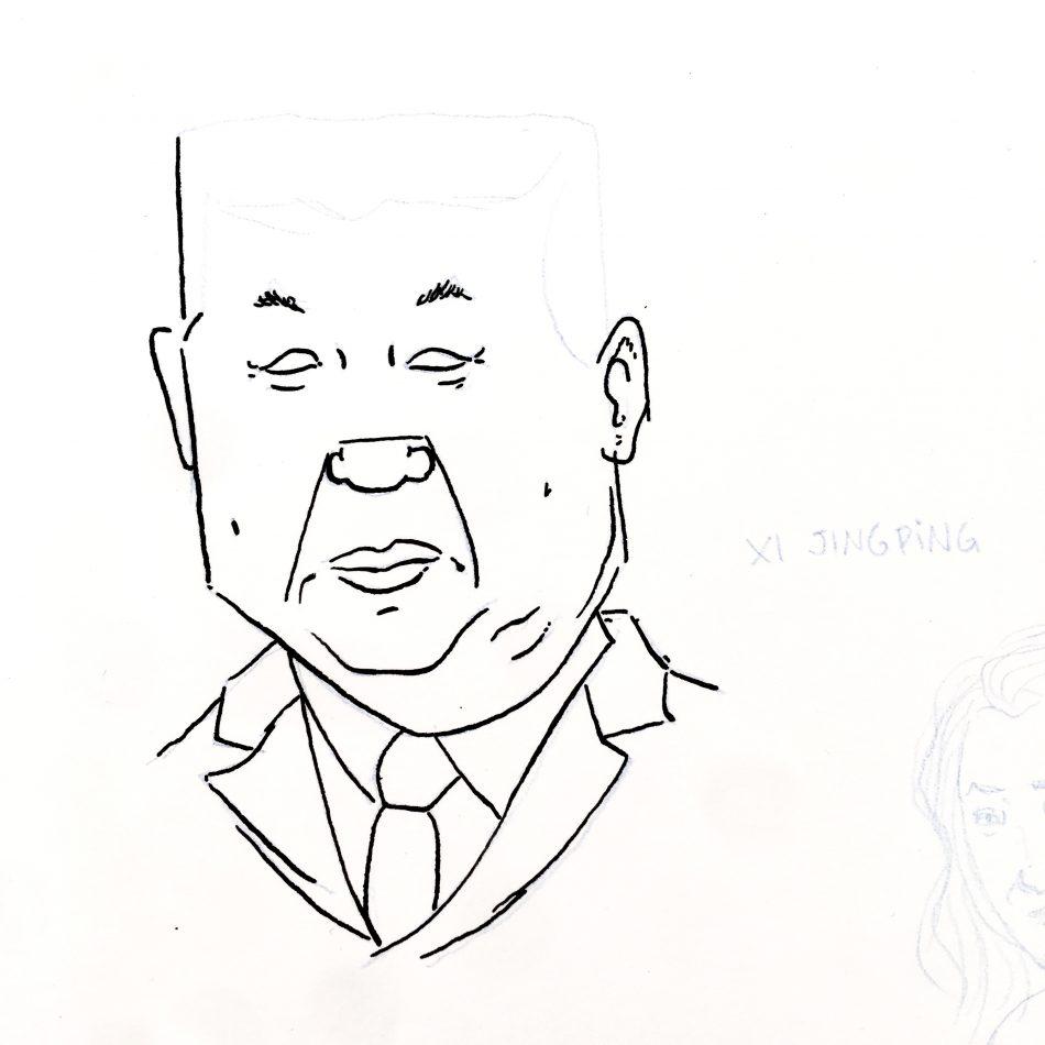 Retrato de Xi JingPing (Boceto)
