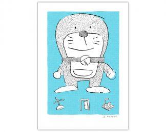Lámina con versión cutre de Doraemon