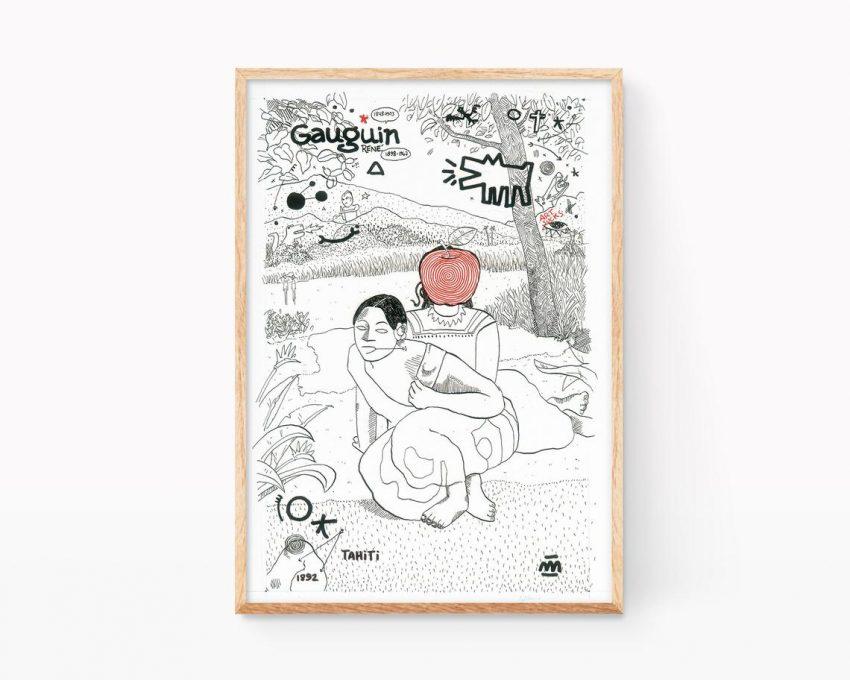Lámina ilustración cuando te casas de Paul Gauguin. Remezclas de arte
