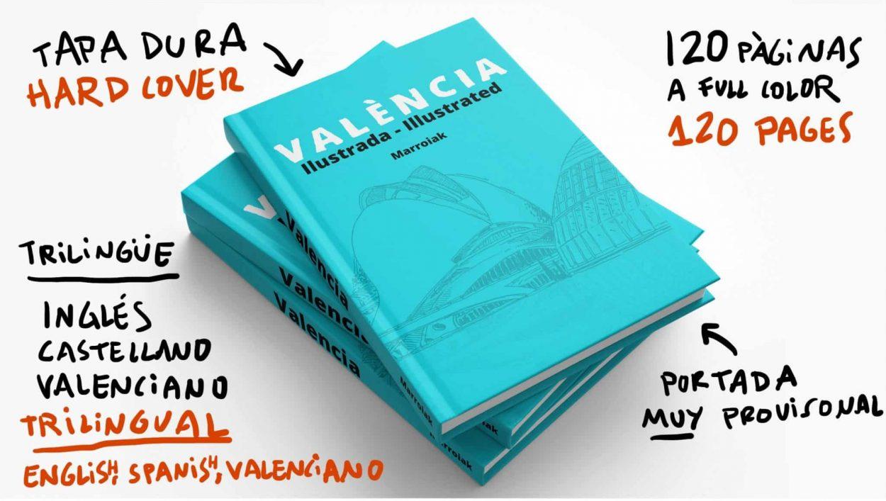 Portada provisional de la guía ilustrada de Valencia. Dibujos y acuarelas