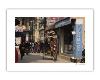 Fotografía de una calle de Kathmandu en Nepal