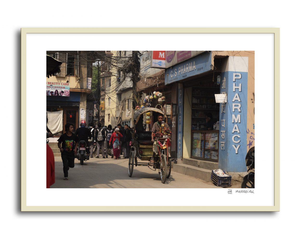 Fotografia de una calle de Kathmandu, Nepal