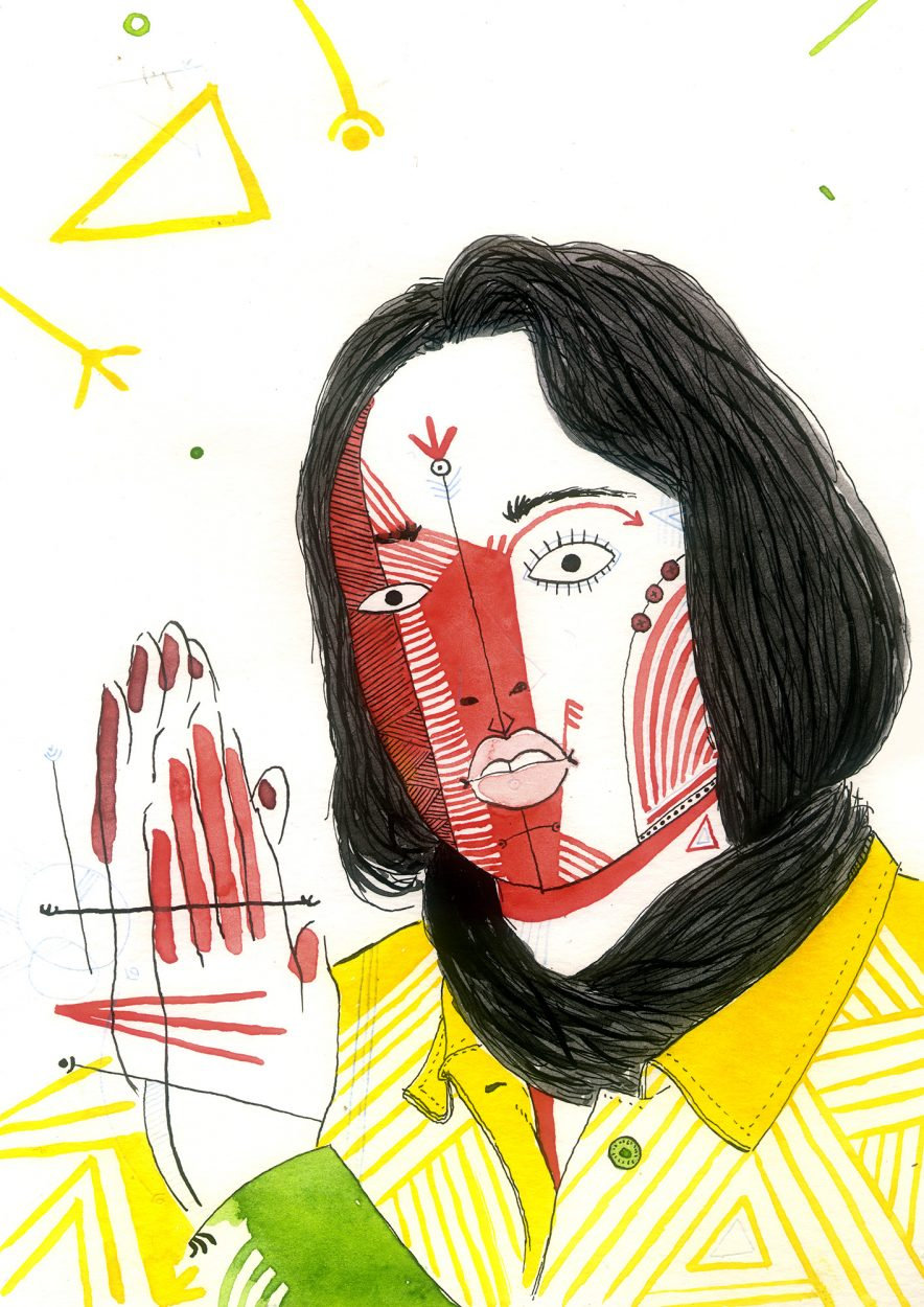 Retrato de la artista, cantante, músico de trap o reggaeton Rosalía, la de malamente y tra tra