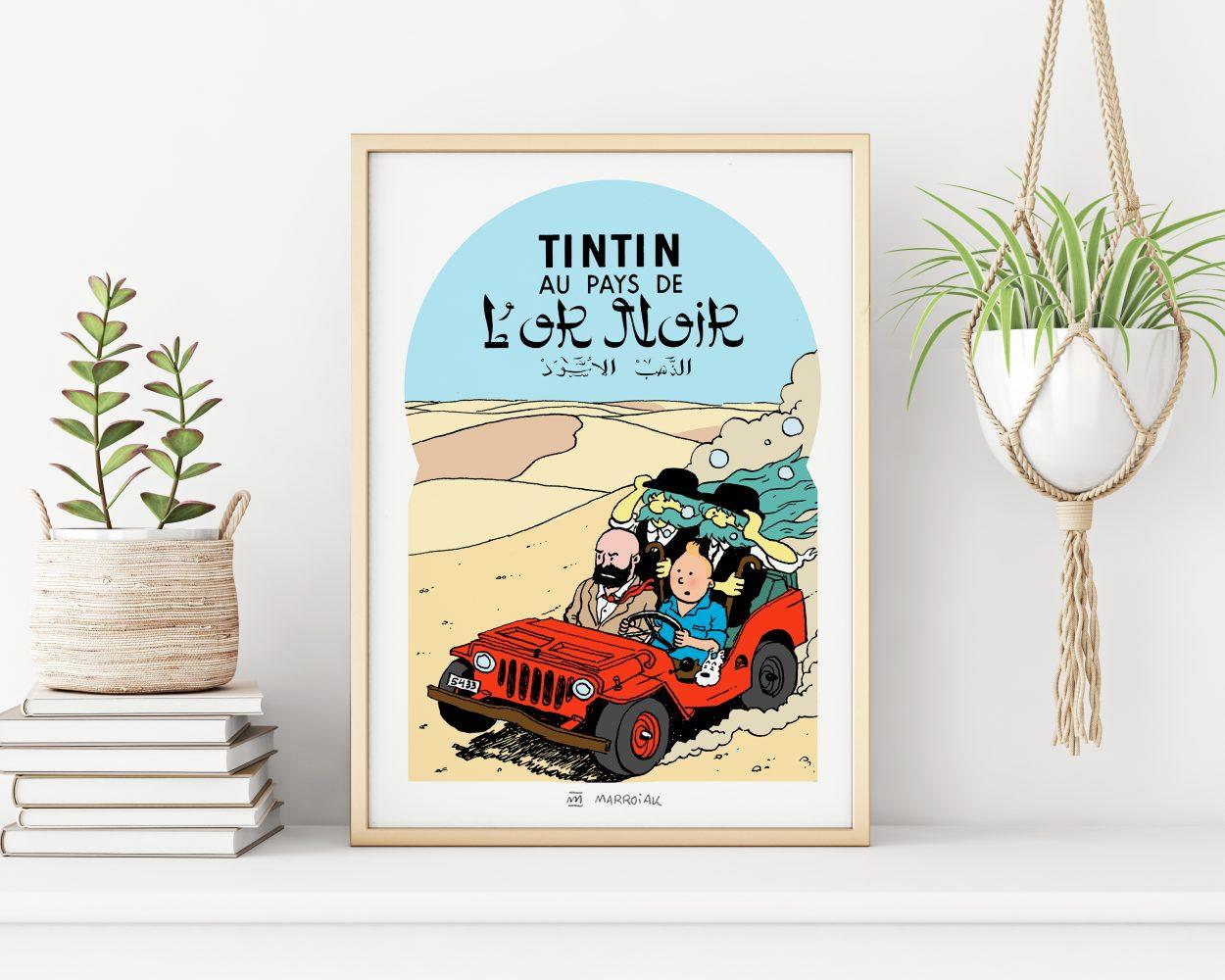Portada falsa de Tintin en el país del oro negro